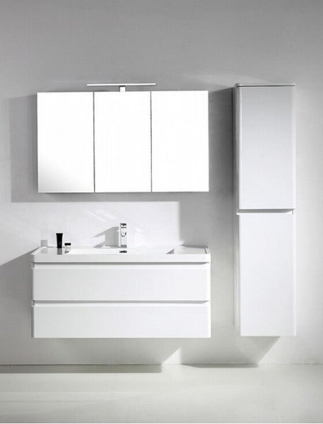 "Eviva Glazzy? 48"" Wall Mount Modern Bathroom Vanity with Single Sink (High Glossy White)"