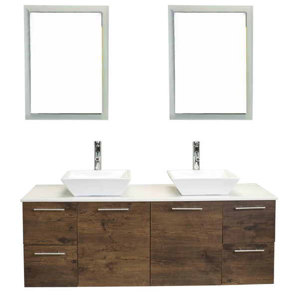 Eviva Luxury 60-inch Rosewood bathroom cabinet only