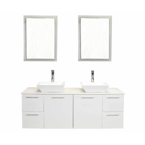 Eviva Luxury 60-inch White bathroom cabinet only