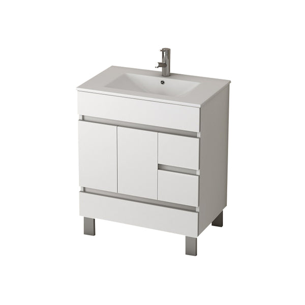 "Eviva Piscis? 32"" Vanity White Bathroom Vanity with White Integrated Porcelain Sink"