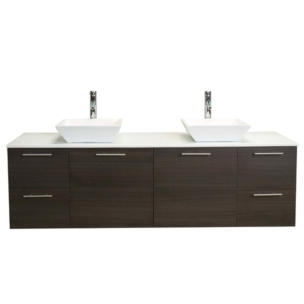Eviva Luxury 72-inch Grey Oak bathroom cabinet only