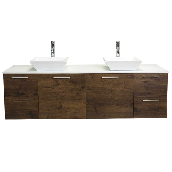 Eviva Luxury 72-inch Rosewood bathroom cabinet only