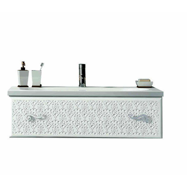 "Eviva Venice 32"" White Modern Luxury Bathroom Vanity with white accrylic integrated sink."