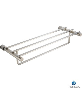 "Fresca Magnifico 22"" Towel Rack - Brushed Nickel"
