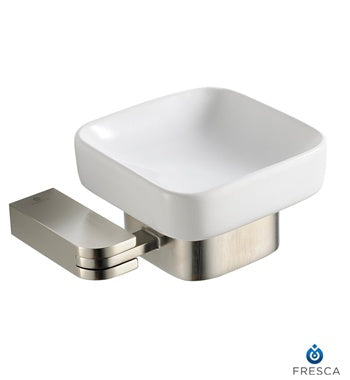 Fresca Solido Soap Dish - Brushed Nickel