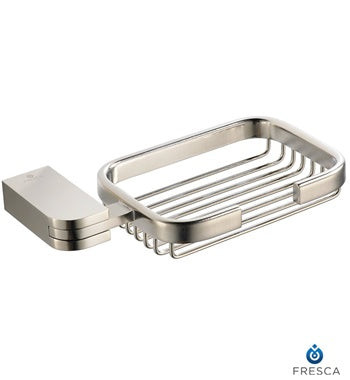 Fresca Solido Soap Basket - Brushed Nickel