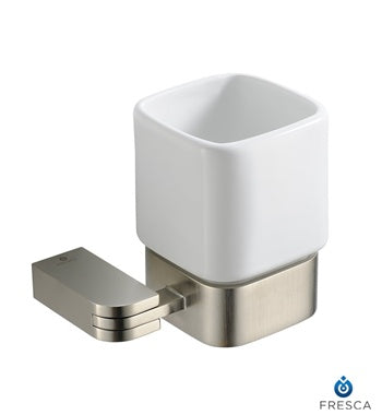 Fresca Solido Tumbler Holder - Brushed Nickel