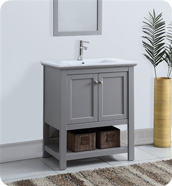 "Fresca Manchester 30"" Gray Traditional Bathroom Vanity"