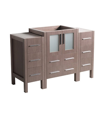 "Fresca Torino 48"" Gray Oak Modern Bathroom Cabinets"