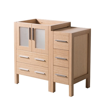 "Fresca Torino 36"" Light Oak Modern Bathroom Cabinets"
