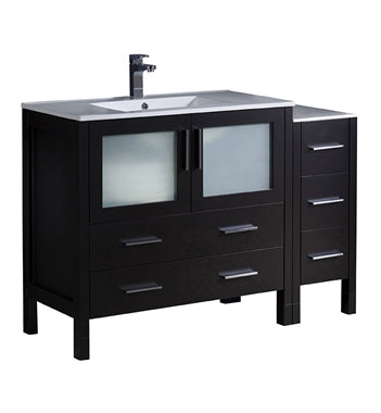 "Fresca Torino 48"" Espresso Modern Bathroom Cabinets w/ Integrated Sink"