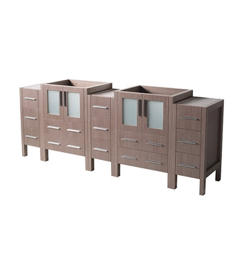 "Fresca Torino 72"" Gray Oak Modern Bathroom Cabinets"