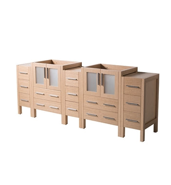 "Fresca Torino 72"" Light Oak Modern Bathroom Cabinets"