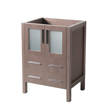 "Fresca Torino 24"" Gray Oak Modern Bathroom Cabinet"