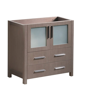 "Fresca Torino 30"" Gray Oak Modern Bathroom Cabinet"