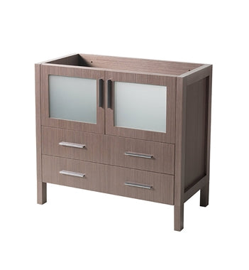 "Fresca Torino 36"" Gray Oak Modern Bathroom Cabinet"