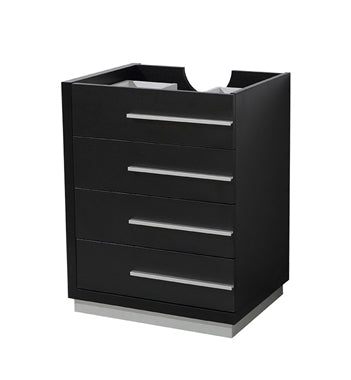 "Fresca Livello 24"" Black Modern Bathroom Cabinet"