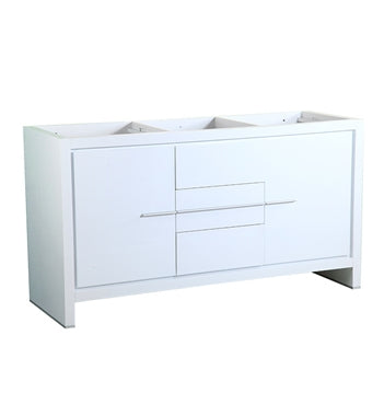 "Fresca Allier 60"" White Modern Double Sink Bathroom Cabinet"