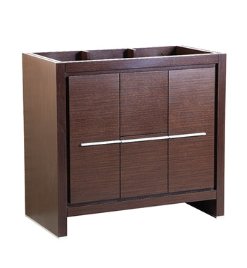 "Fresca Allier 36"" Wenge Brown Modern Bathroom Cabinet"