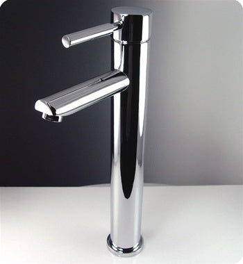Fresca Tolerus Single Hole Vessel Mount Bathroom Vanity Faucet - Chrome