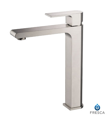 Fresca Allaro Single Hole Vessel Mount Bathroom Vanity Faucet - Brushed Nickel