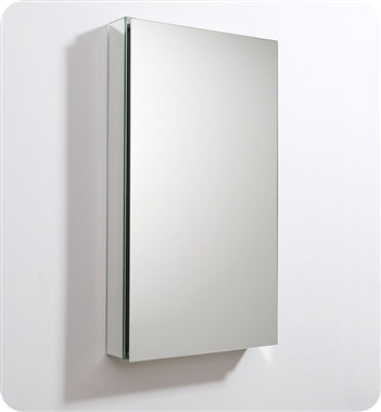 "Fresca 20"" Wide x 36"" Tall Bathroom Medicine Cabinet w/ Mirrors"