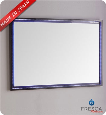 "Fresca Platinum Due 36"" Glossy White Bathroom LED Mirror"