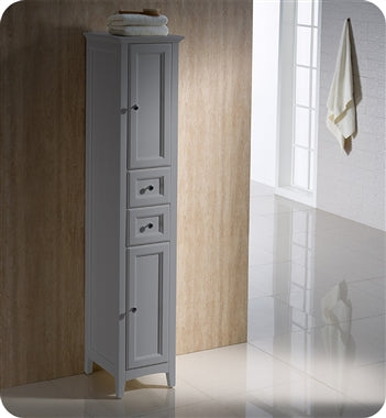Fresca Oxford Gray Tall Bathroom Linen Cabinet