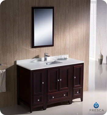 "Fresca Oxford 48"" Mahogany Traditional Bathroom Vanity"