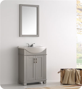 "Fresca Hartford 24"" Gray Traditional Bathroom Vanity"