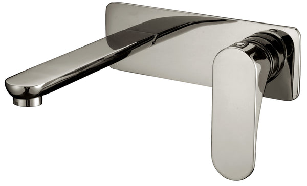 Dawn? Wall Mounted Single-lever Concealed Washbasin Mixer, Brushed Nickel
