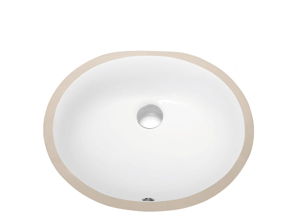 Dawn? Under Counter Oval Ceramic Basin with Overflow