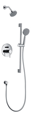 Dawn? Grand Canyon Series Shower Combo Set Wall Mounted Showerhead with Slide bar handheld shower, Chrome