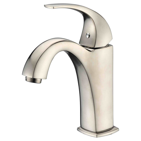 Dawn? Single-lever lavatory faucet, Brushed Nickel (Standard pull-up drain with lift rod D90 0010BN included)
