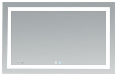 48x30 Aquadom 2018 Daytona LED mirrors are fully redesigned to make your bathroom the most exciting room in your home! New Cool and Warm Light Touch switch.Defogger Dimmer and Clock