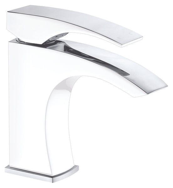 Dawn? Single-lever lavatory faucet, Chrome & White (Standard pull-up drain with lift rod D90 0010C included)