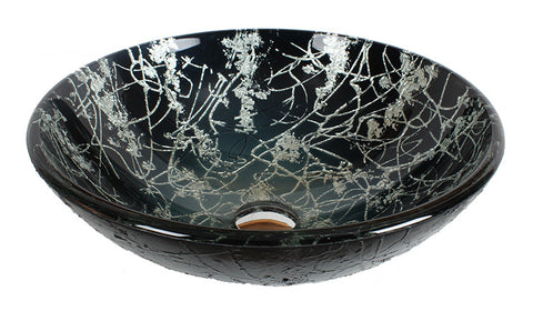 Dawn? Tempered glass handmade vessel sink-round shape