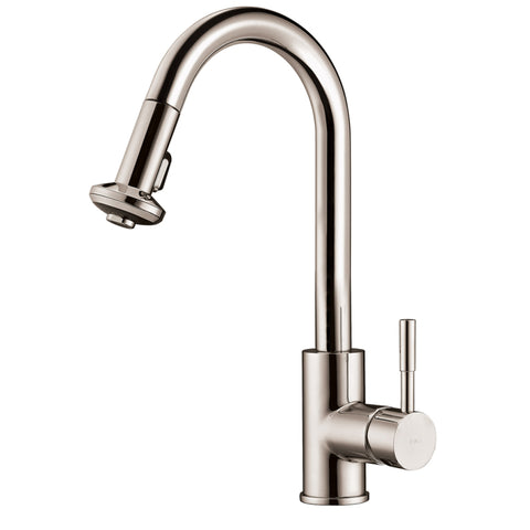 Dawn? Single-lever pull-down spray sink mixer, Brushed Nickel