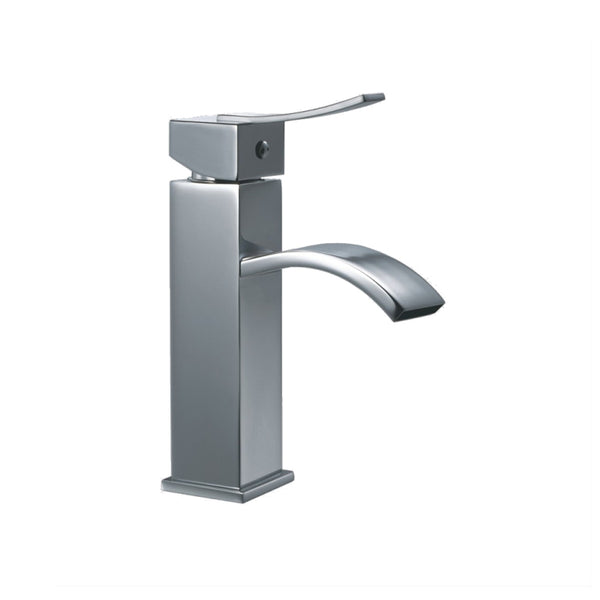 Dawn? Single-lever square lavatory faucet, Chrome (Standard pull-up drain with lift rod D90 0010C included)