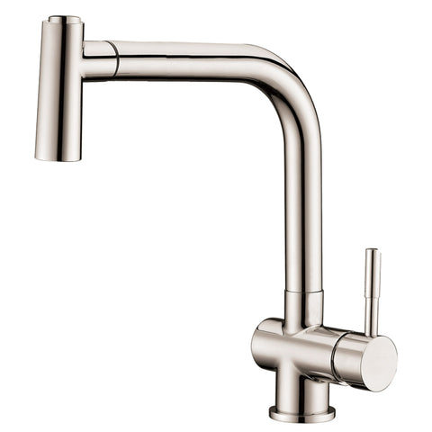 Dawn? Single-lever pull-out spray sink mixer, Brushed Nickel