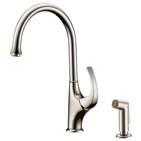 Dawn? Single-lever kitchen faucet with side-spray, Brushed Nickel