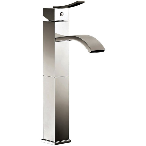 Dawn? Single-lever square tall lavatory faucet, Brushed Nickel