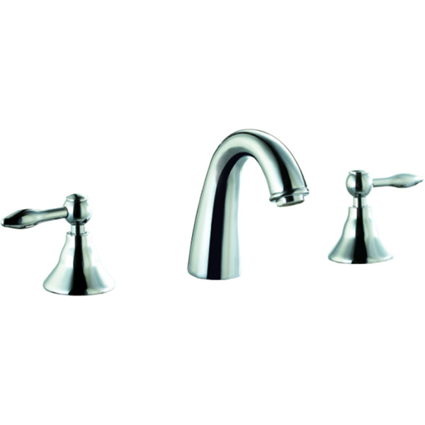 Dawn? 3-hole, 2-handle widespread lavatory faucet, Chrome  (Standard pull-up drain with lift rod D90 0010C included)
