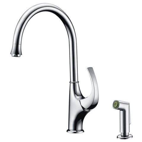 Dawn? Single-lever kitchen faucet with side-spray, Chrome