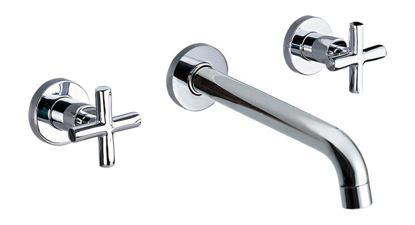 Dawn? Wall Mounted Double-handle Concealed Washbasin Mixer, Chrome