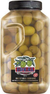 LOW SALT WHOLE GREEN OLIVES IN P.P. JAR