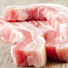 Belly pork slices