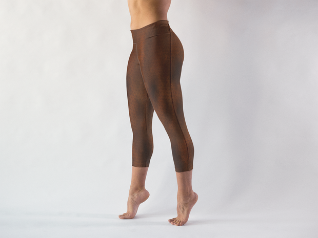 Sacred Geometry Capris Left Side View