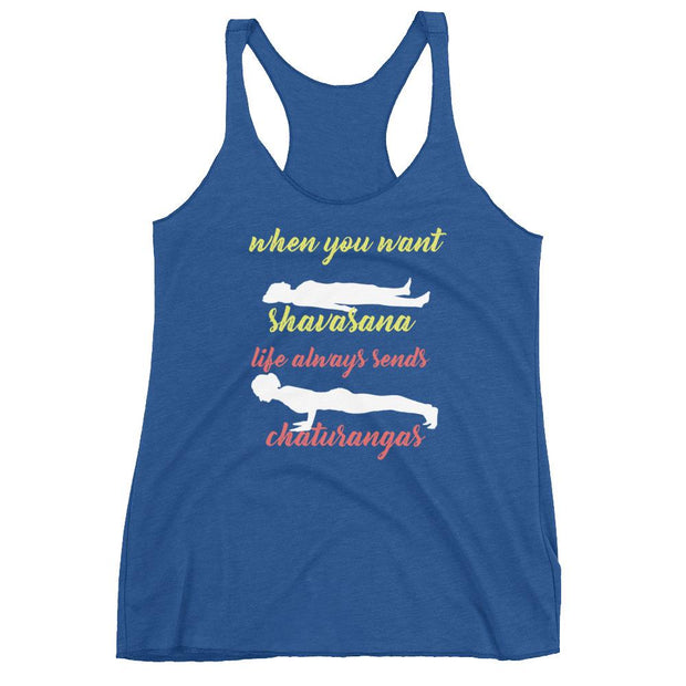 When You Want Shavasana Racerback Tank