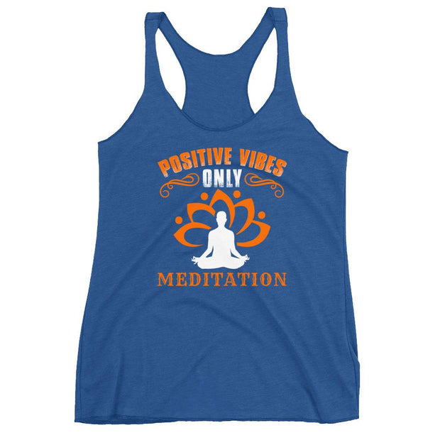 Positive Vibes Only Meditation Racerback Tank